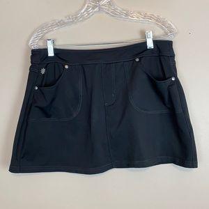 Athleta Black Endorphin Run Tennis Skirt w Pockets